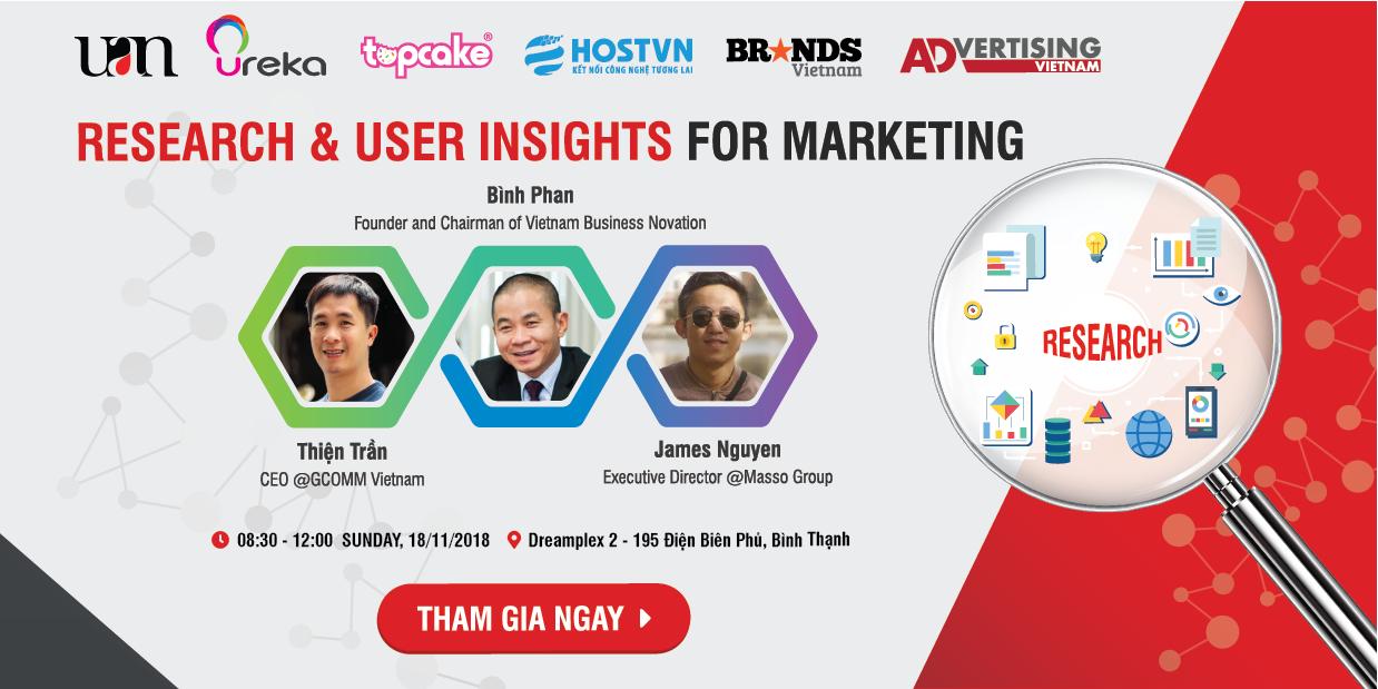 UAN tổ chức chương trình Research & User Insights for Marketing để mang đến cho những bạn làm marketing ở mọi cấp độ một góc nhìn đúng và đầy đủ về việc nghiên cứu thị trường, thu thập thông tin để từ đó có được những insights sự thật ngầm hiểu về người dùng.